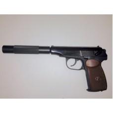 Пневматический пистолет макарова МР-654К-28 с доработкой до 3 Дж, гладким стволом , удлинителем ствола ,прокладкой ствола, с бородой Ижевский механический завод BAIKAL, ПМ , пневматика